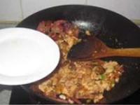 酢廣椒炒臘肉的做法圖解7