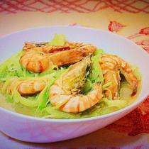 青蘿卜燉蝦