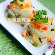 蝦仁紫菜拌麵