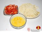 番茄雞蛋拌麵的做法圖解2