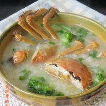 河蟹西蘭花粥
