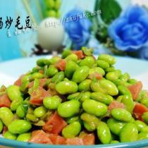 臺灣香腸炒毛豆
