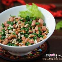 芹葉豆乾拌三分鐘油酥花生的做法