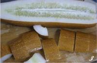 老黃瓜瘦肉湯的做法圖解3