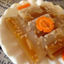 橙香雙色豬皮凍的做法