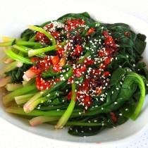 辣拌菠菜的做法