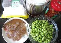 剁椒毛豆蝦仁的做法圖解1