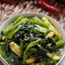 魚香菠菜的做法