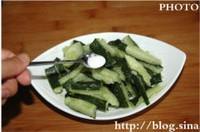 刀拍黃瓜的做法圖解3