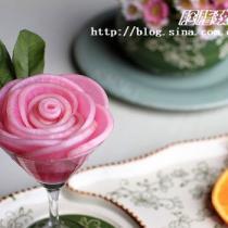 嫣紫玫瑰蘿卜花的做法