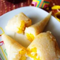 芒果冰激凌粽的做法