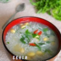 薺菜黃豆粥