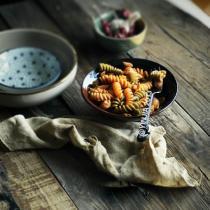 辣味金槍魚三色螺旋麵