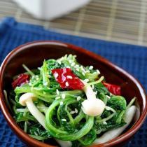 蘿卜苗熗拌海鮮菇的做法