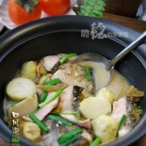 泡菜芋兒魚頭煲的做法