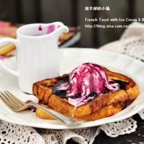 法式吐司配藍莓冰激凌