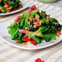 花生拌紅根菠菜的做法