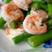 蘆筍拌蝦仁的做法