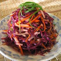 紫甘藍拌蘋果沙拉的做法