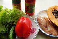 桃紅柳綠拌沙拉的做法圖解1