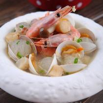 北極蝦蛤蜊冬瓜湯