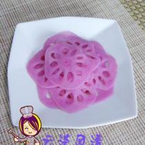 檸香胭脂藕片的做法