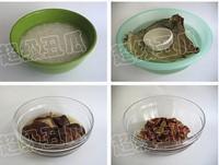 荷葉糯米蒸排骨的做法圖解1
