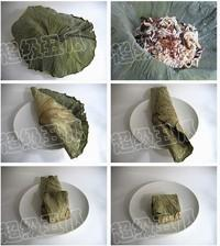 荷葉糯米蒸排骨的做法圖解3