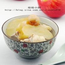 蘋果川貝雞湯