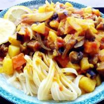 金針菇咖喱義麵