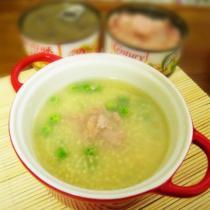 金槍魚小米豌豆粥