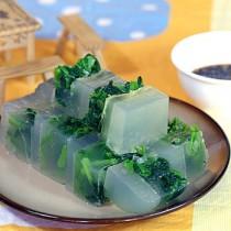 菠菜肉皮凍的做法