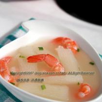 淮山玉米粒甜蝦湯