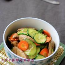 黃瓜炒豬肝的做法