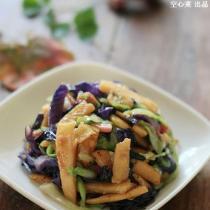 彩蔬炒玉米麵片