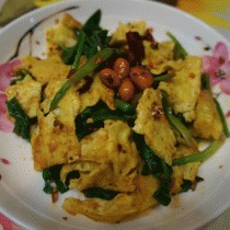 香辣菠菜蛋皮的做法
