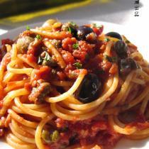 蒜香番茄鳀魚麵
