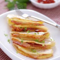 椒鹽培根夾土豆的做法
