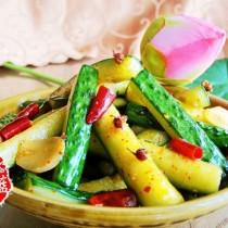 雙椒脆黃瓜條的做法