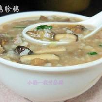 香菇雞胗粥