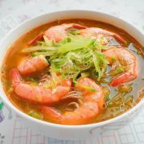 青蘿卜蝦湯