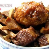 虎皮蛋玉蘭片燒肉