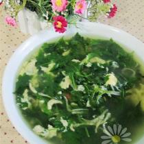 菊花腦銀魚蛋湯