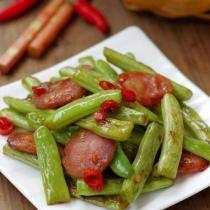 臘腸乾煸四季豆