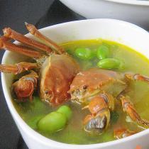 河蟹毛豆湯
