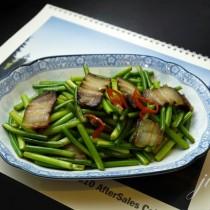 蒜苔炒臘肉的做法