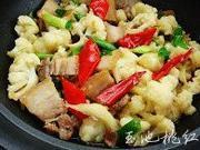 乾煸菜花五花肉的做法圖解7
