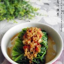 薑蒜香汁菠菜的做法