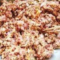 香菇茄子豬肉水餃的做法圖解3
