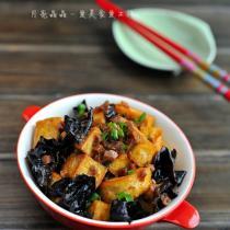 香菇醬炒豆腐黑木耳的做法